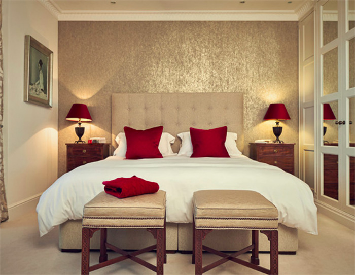 Are you still decorating with outdated jewel tones for Red master bedroom designs
