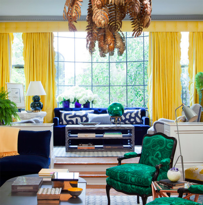Fiery Orange In The Artwork Heightens Drama This Dining Room By Carolyn Miller Interiors