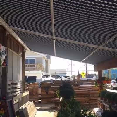 #idfblive day 17 Introducing the Durasol Pinnacle Retractable Awning available through Window Works. www.windowworks-nj.com