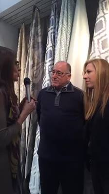 Live at the Kravet Contract Booth at BDNY