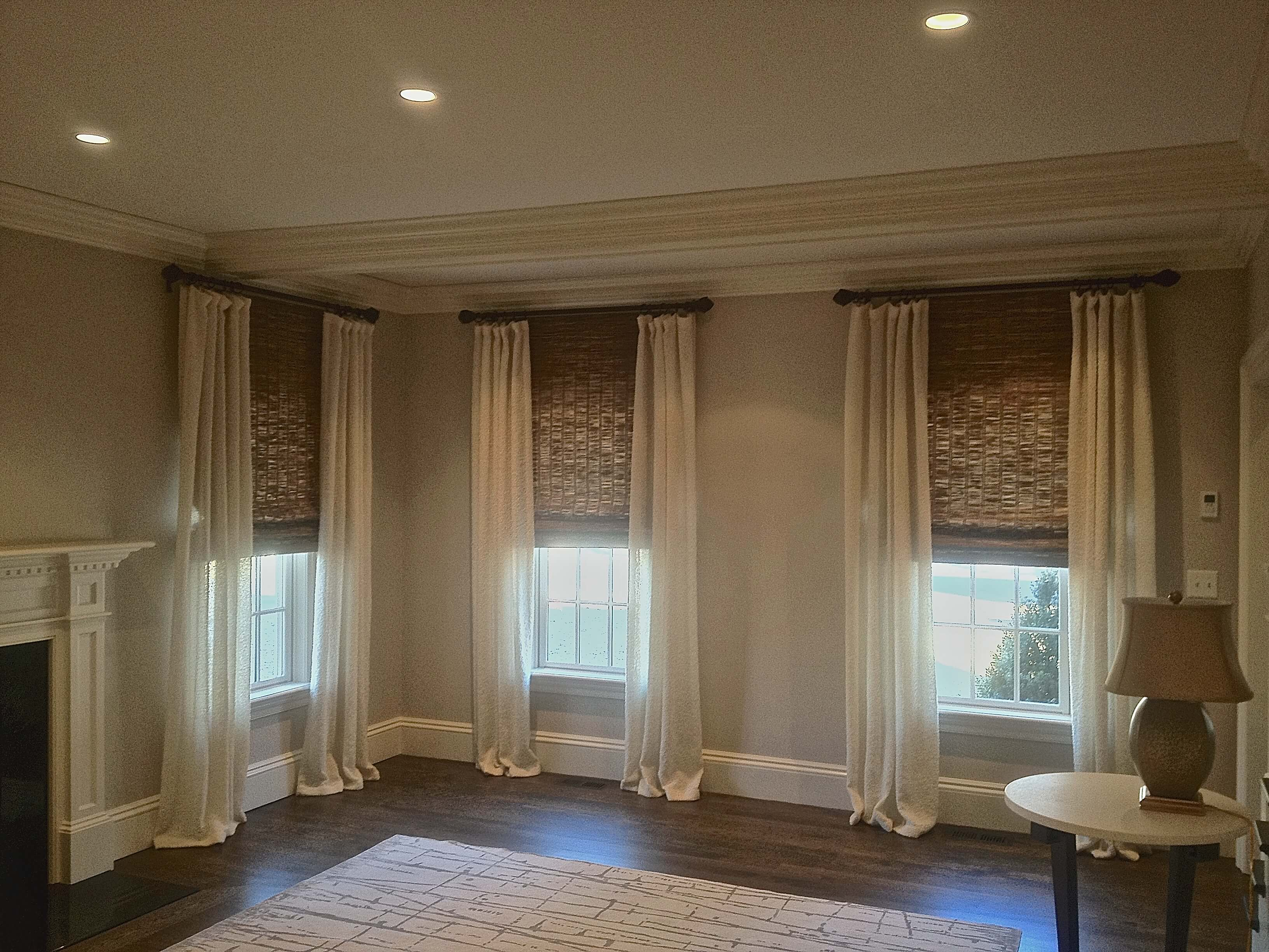 Draped headed panels