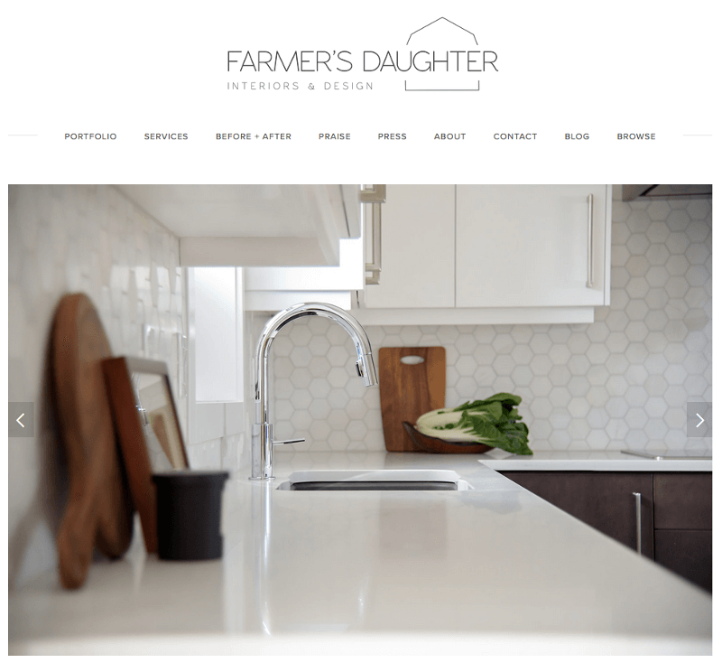 Farmers Daughter Interiors Website Banner