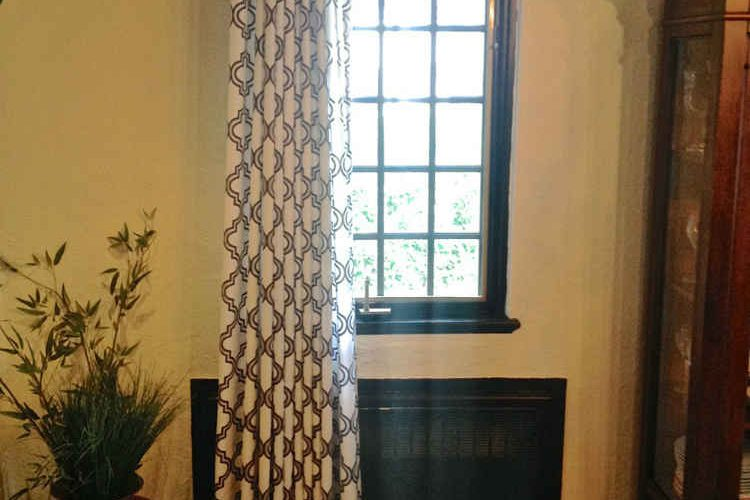 Dining Room Inverted French Pleated Panel