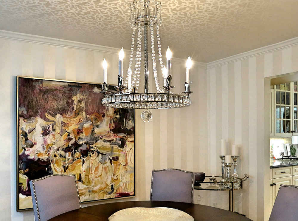 Dining Room Wallpaper On Walls And Ceilings