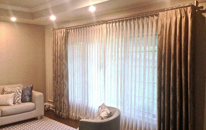 Double Rod Sheer And Drapes