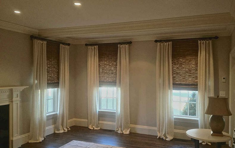 Draped Headed Panels Woven Woods Pavarini Design Fotor