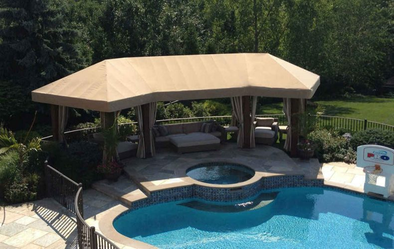 Durasol Patio Pergola Cover With Stationary Panels By Win