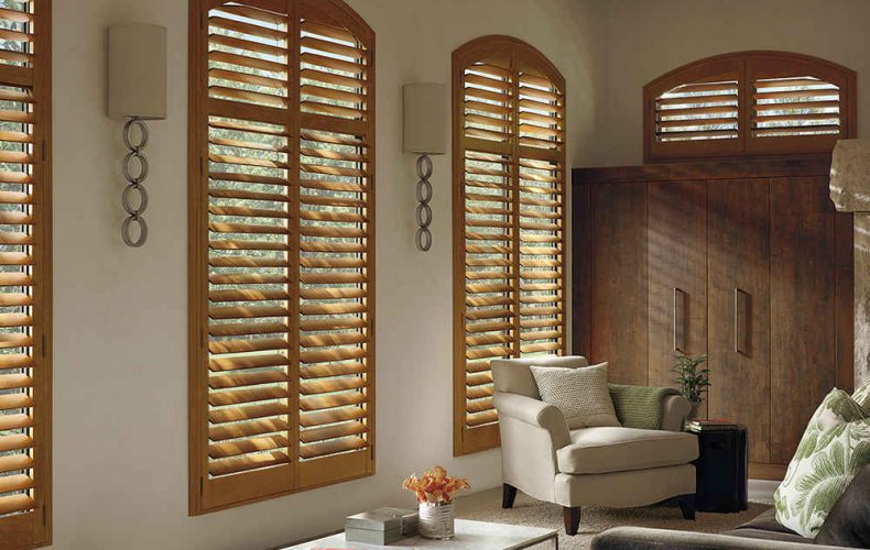 Heritance® Hardwood Shutters With Lazy Eyebrow Arch