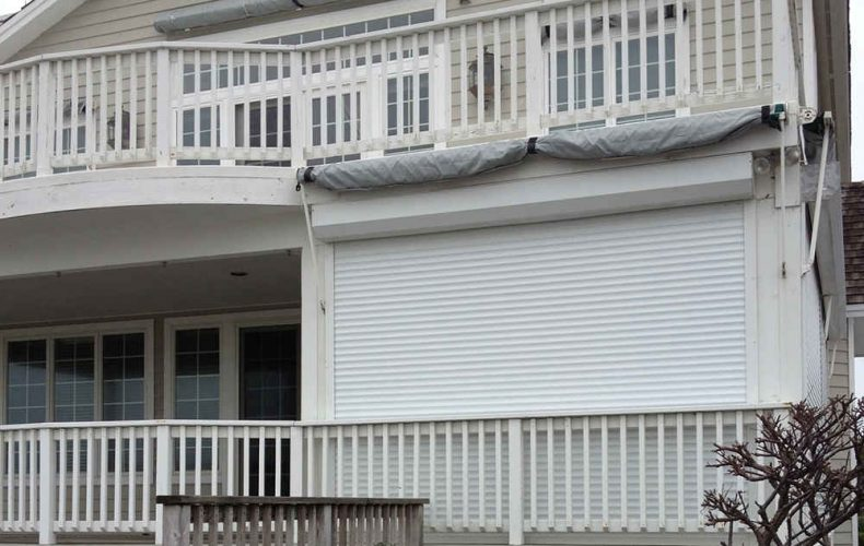 Hurricane Shutters On Balcony