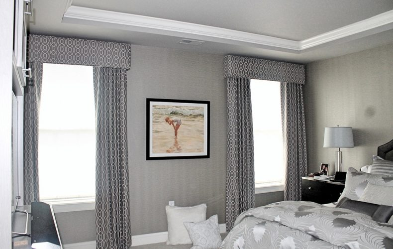 Master Bedroom Cornice Panel Shades
