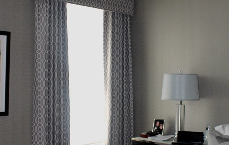 Master Bedroom Cornice Panels Shades
