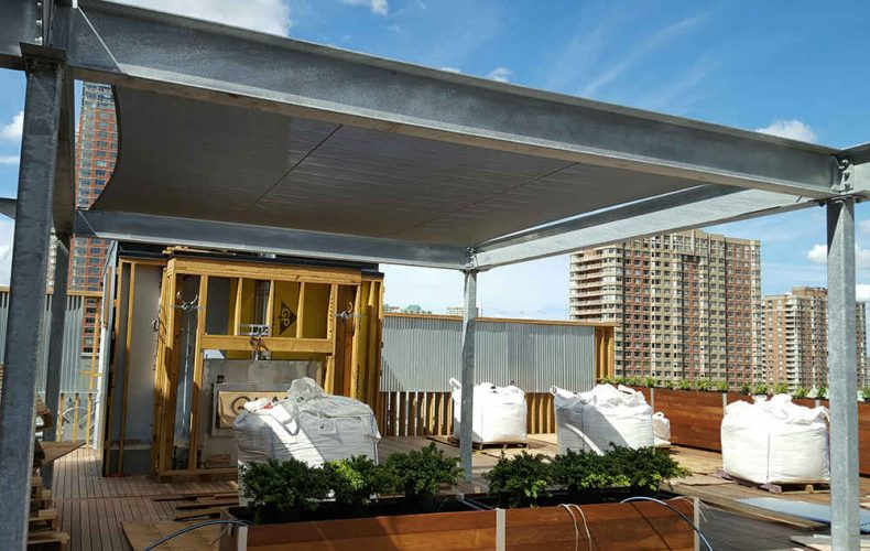 Tension Sail Cloth For Rooftop Terrace