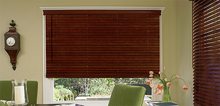 wooden blinds window treatments