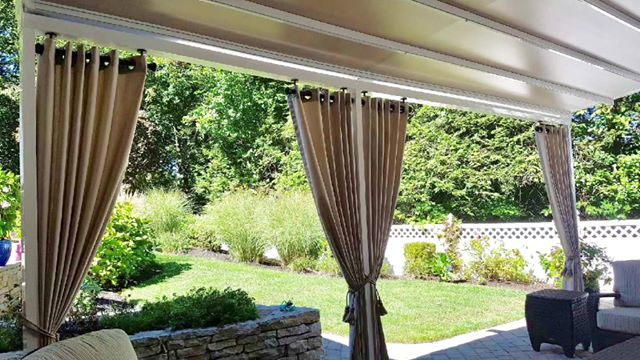 Outdoor drapes for your back patio and awnings.
