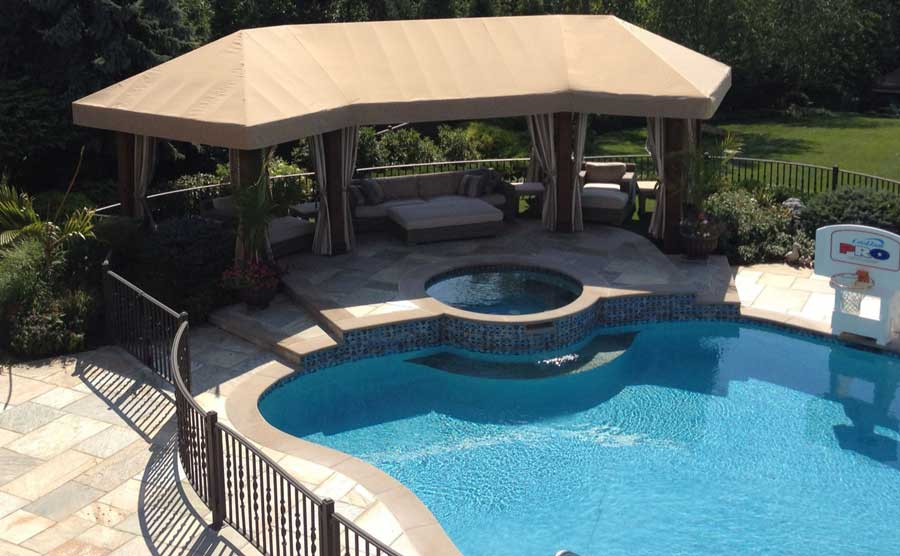 Durasol Patio Pergola Cover With Stationary Panels