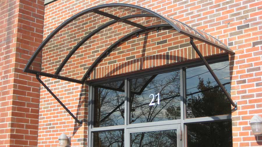 Romanza Polycarbonate Stationary Entrance Awning