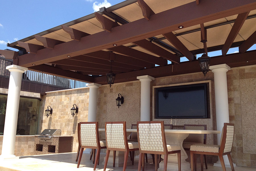 Pinnacle Pergola Awning Tension Shade Cliffside Park Penthouse