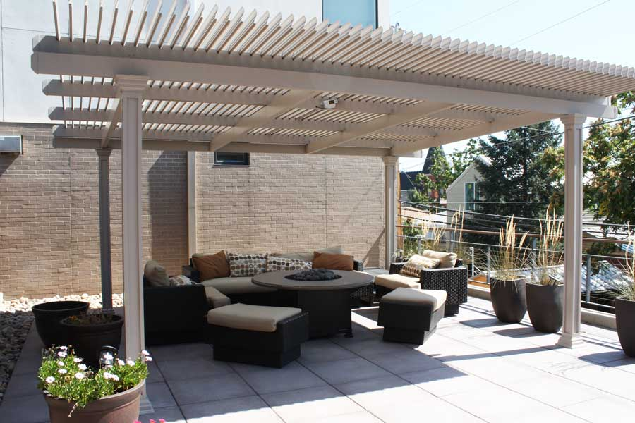 Sun Shade Motorized Louvered Roof Retractable Pergola
