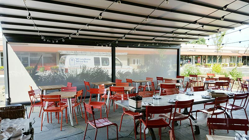 Nomad Pizza Patio Awning Gennius With Drop Screens Nj