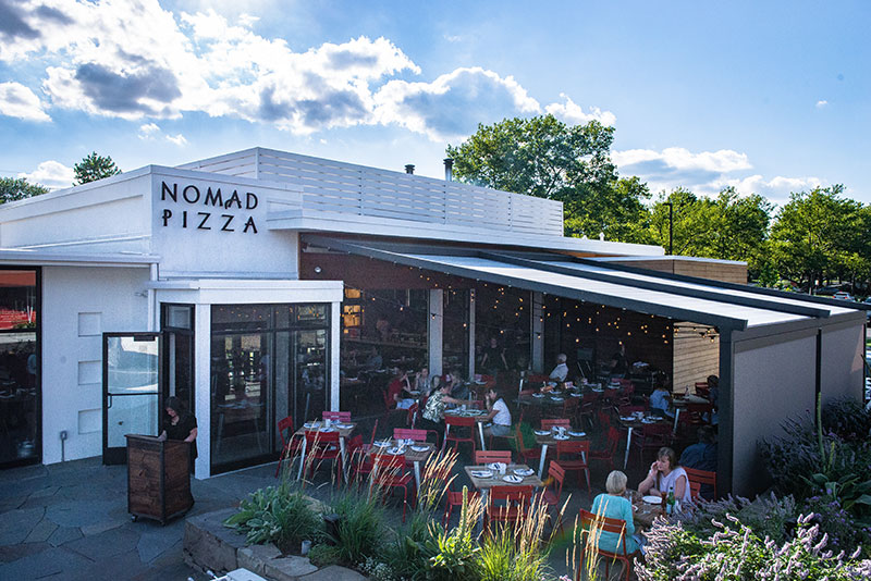 Covered Patio At Nomad Pizza In NJ