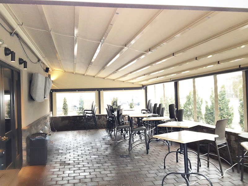 Delicious Heights Restaurant Patio With A Gennius Awning