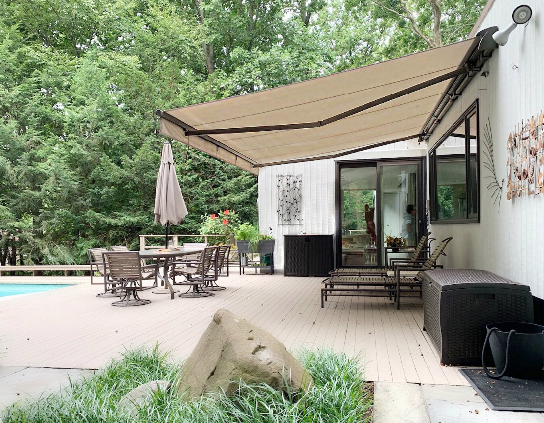Beige Retractable Awning Bella Cassette West Caldwell Nj