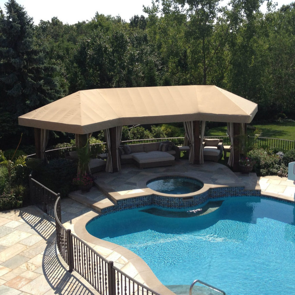 Durasol Patio Pergola Cover With Stationary Panels By Window Works