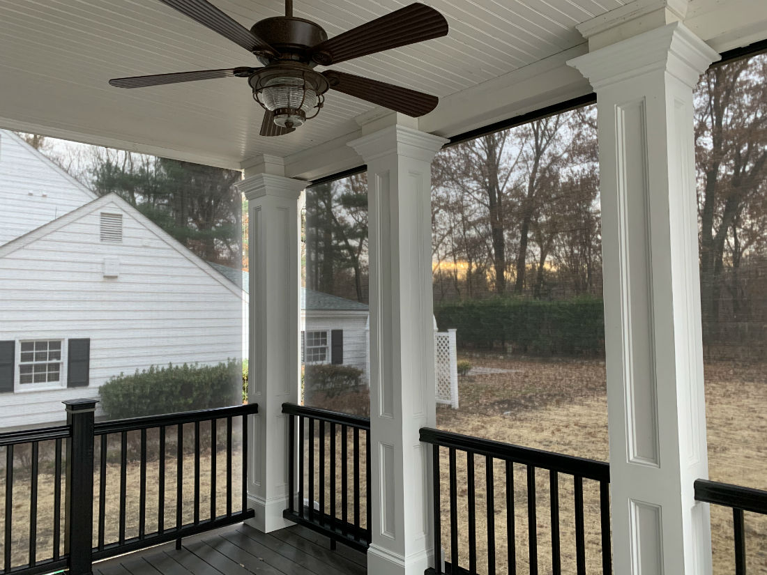 Oradell Nj Motorized Porch Shades Somfy Bergen County