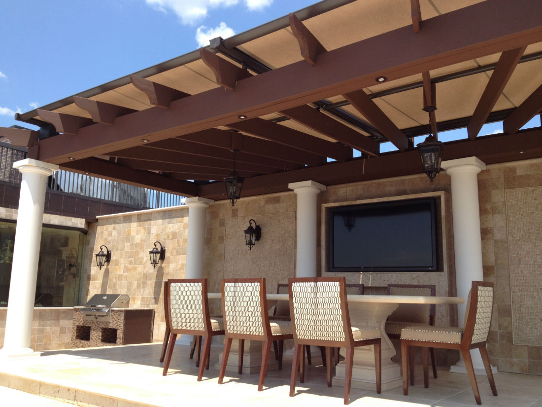 Pinnacle Pergola Awning Tension Shade Cliffside Park Nj Penthouse