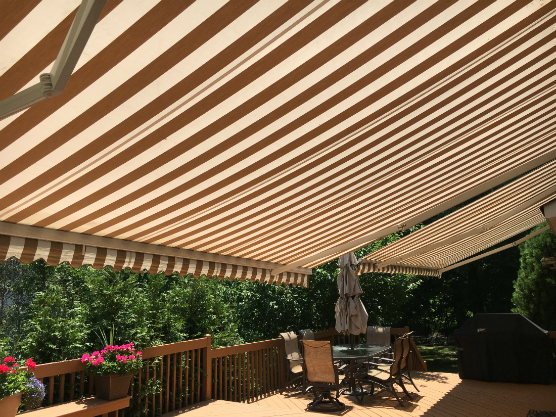 Wayne Nj Striped Retractable Awning Passaic County