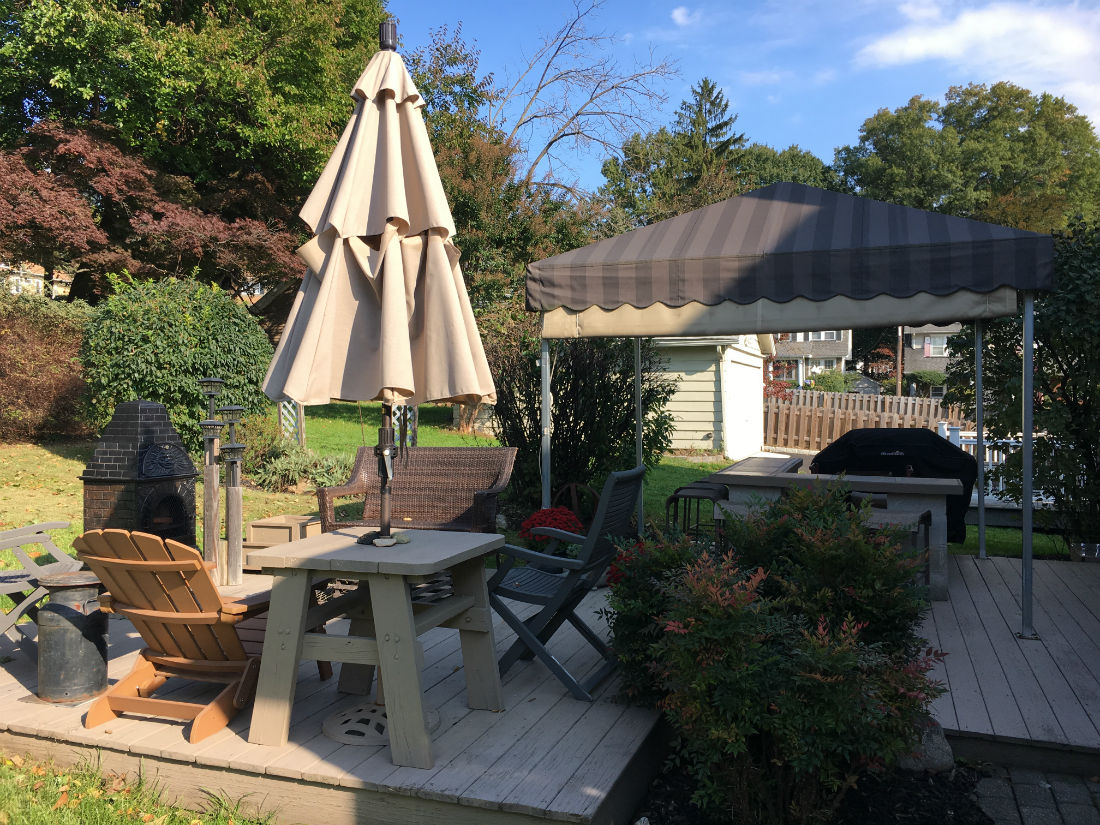 West orange NJ Freestanding cabana canopy