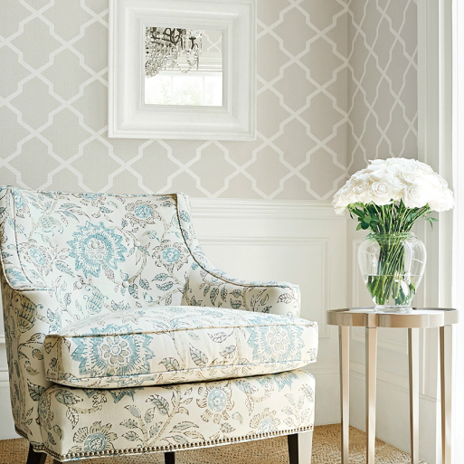 Wallpaper Beige And White Nj Thibaut 1