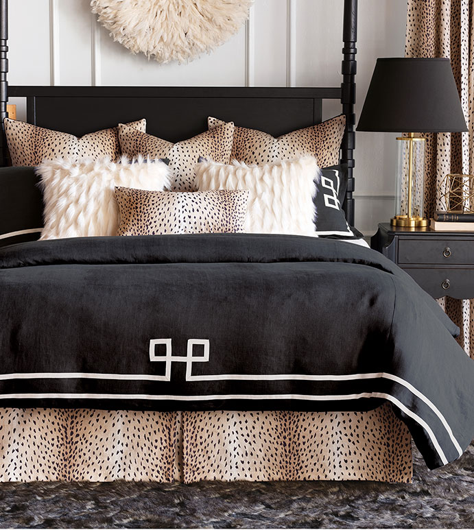Black Bedspread Photo Credit Eastern Accents