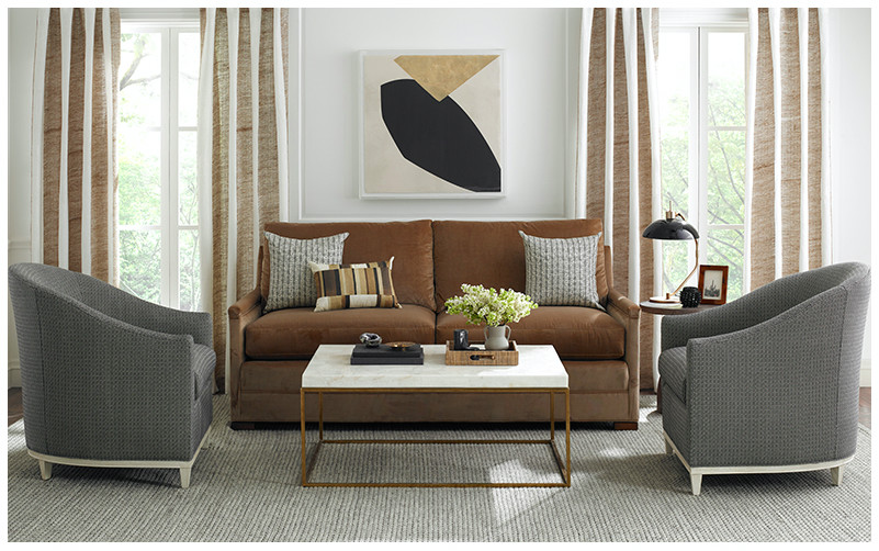 Photo Credit Curated Kravet Living Room