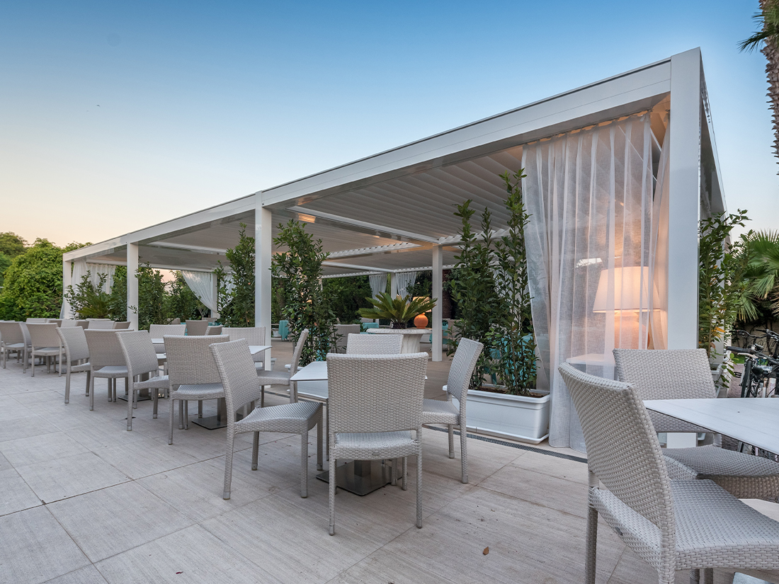 Louvered Roof Hotel Acacia Marina Palace Marina Di Ragusa Italy