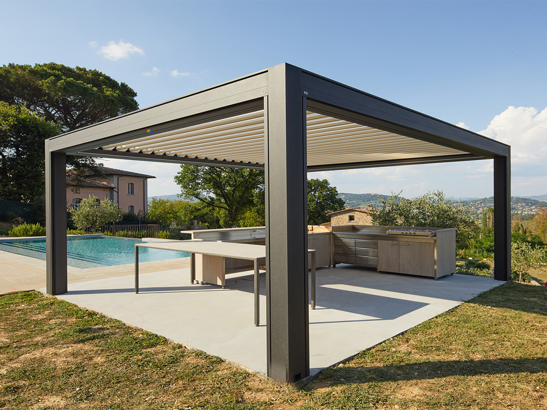 Poolside Louvered Roof